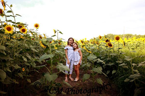 The Preston Family - Sunflower Field
