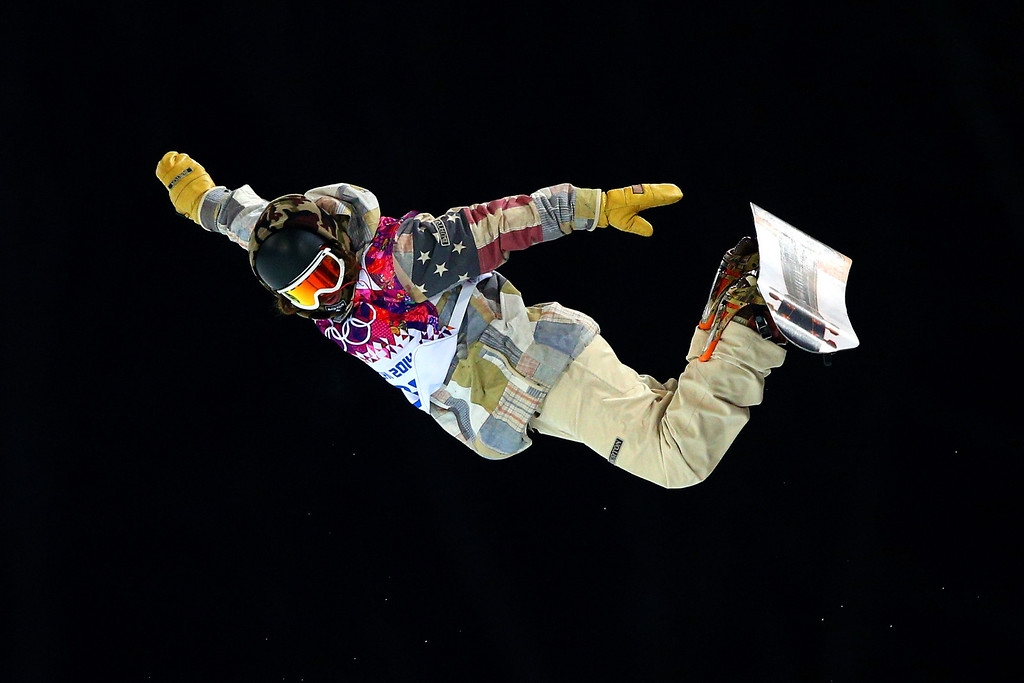 . Danny Davis of the United States practices before the Snowboard Men\'s Halfpipe Finals on day four of the Sochi 2014 Winter Olympics at Rosa Khutor Extreme Park on February 11, 2014 in Sochi, Russia.  (Photo by Cameron Spencer/Getty Images)