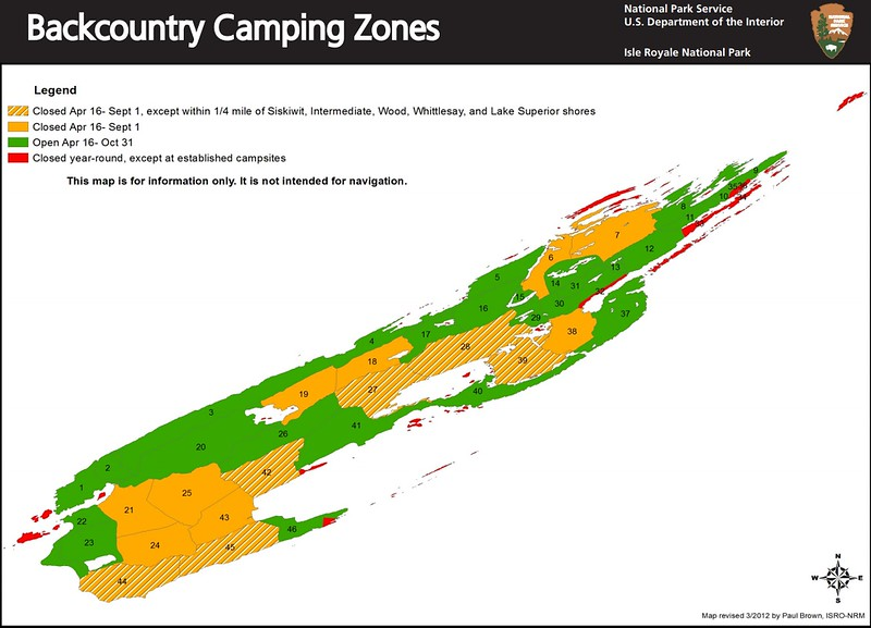 Isle Royale National Park (Backcountry Camping Zones)