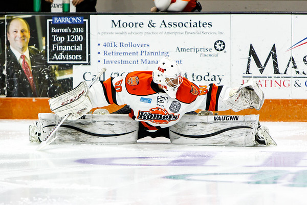 1/7/17 Komets vs. Quad City +McDougall Banner Raising