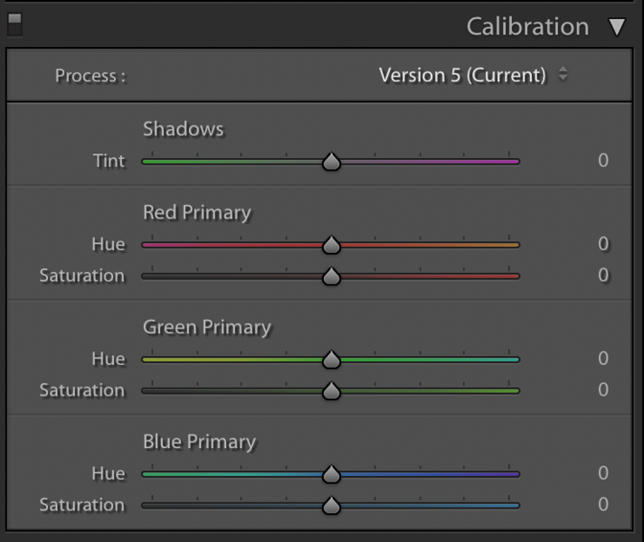 Adobe ® Lightroom's Calibration Panel