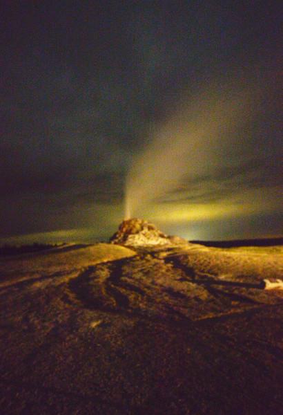 White Mound Geyser Erupts