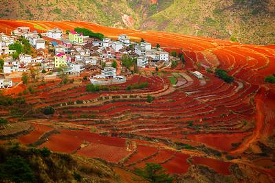 China, Yunnan, Yuanyang Rice Terrance, Dongchuan Red Land
