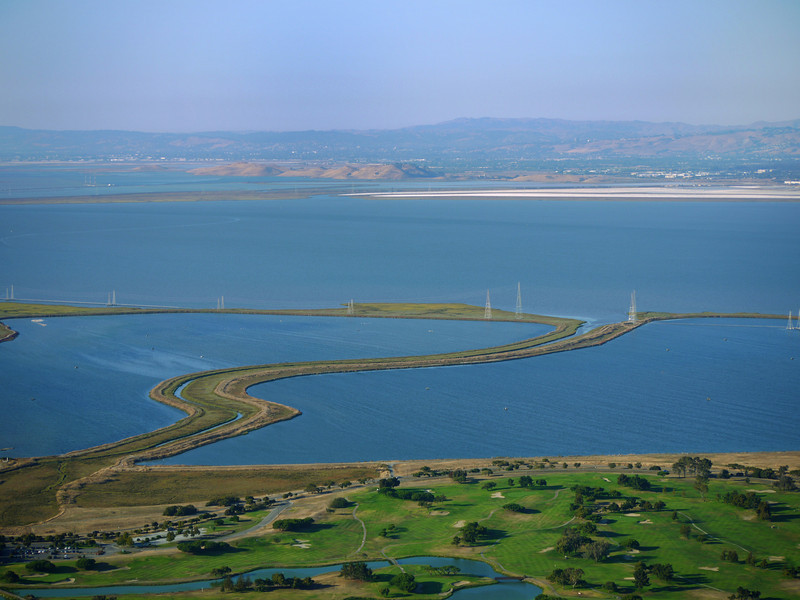 Shoreline Golf Links and the Mountain View Slough.