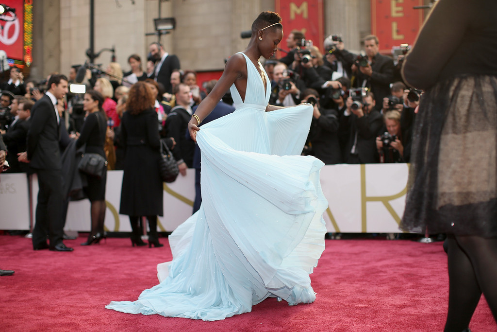 . Actress Lupita Nyong\'o attends the Oscars held at Hollywood & Highland Center on March 2, 2014 in Hollywood, California.  (Photo by Christopher Polk/Getty Images)