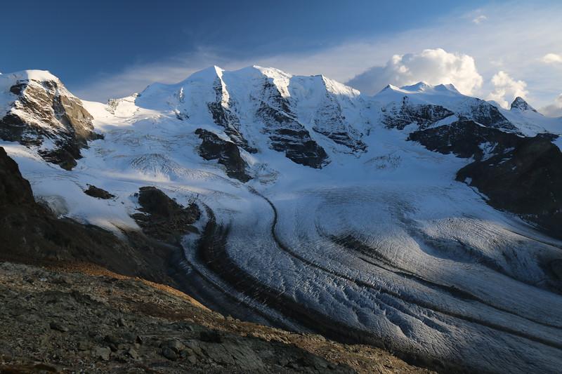 Piz Palu, Bellavista, Pers glacier