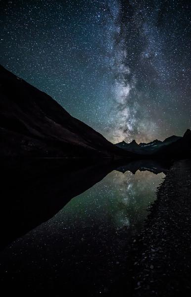 Glacier Milky Way Reflections