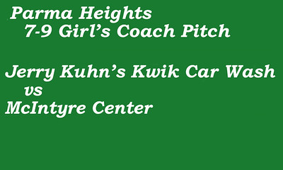 170712 Parma Heights Girl's 7-9 Coach Pitch