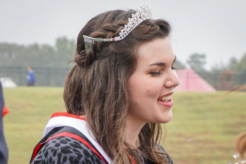 Emma Shappley smiles after being crowned Homecoming Queen.