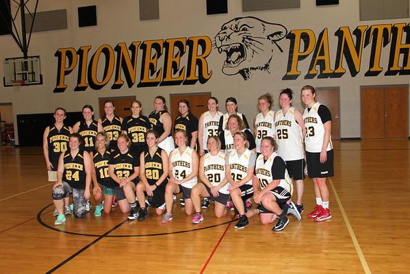 Pioneer Lady Panther's Alumni Game 1/30/2016