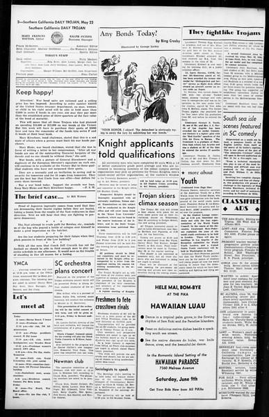 Daily Trojan, Vol. 36, No. 128, May 23, 1945