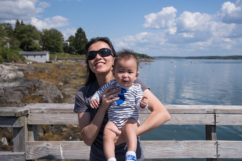 At the house overlooking Harpswell Harbor