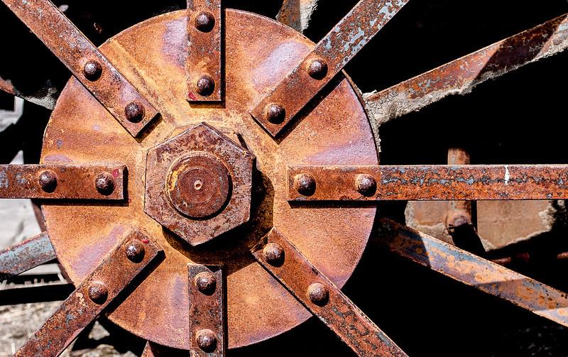 Wheel, Old Molson, Washington, 2000