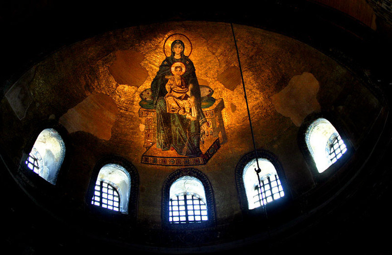 The Theotokos Mosaic, Agia Sophia Cathedral, Constantinople (Istanbul)