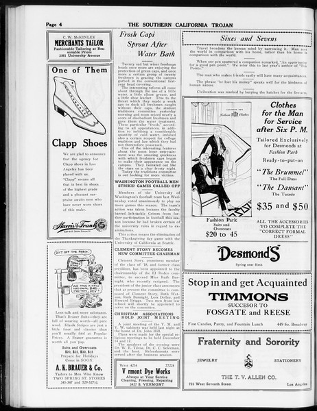 The Southern California Trojan, Vol. 8, No. 38, November 24, 1916
