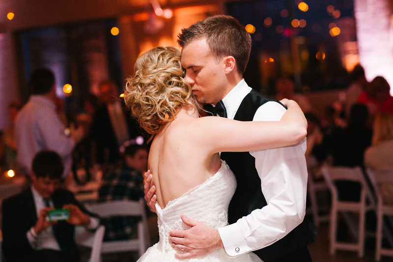 Wedding Reception photography from the Prairie St. Brewhouse in downtown Rockford, IL.  Wedding photographer – Ryan Davis Photography – Rockford, Illinois.