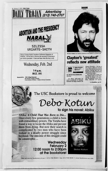 Daily Trojan, Vol. 139, No. 15, February 02, 2000