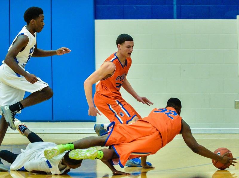 Basketball Varsity Boys vs  Bowie 01-28-14-18