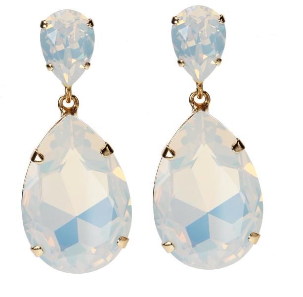 Perfect Drop Earrings / White Opal