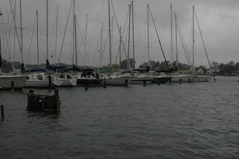 Boats docked on Jackson Creek.
