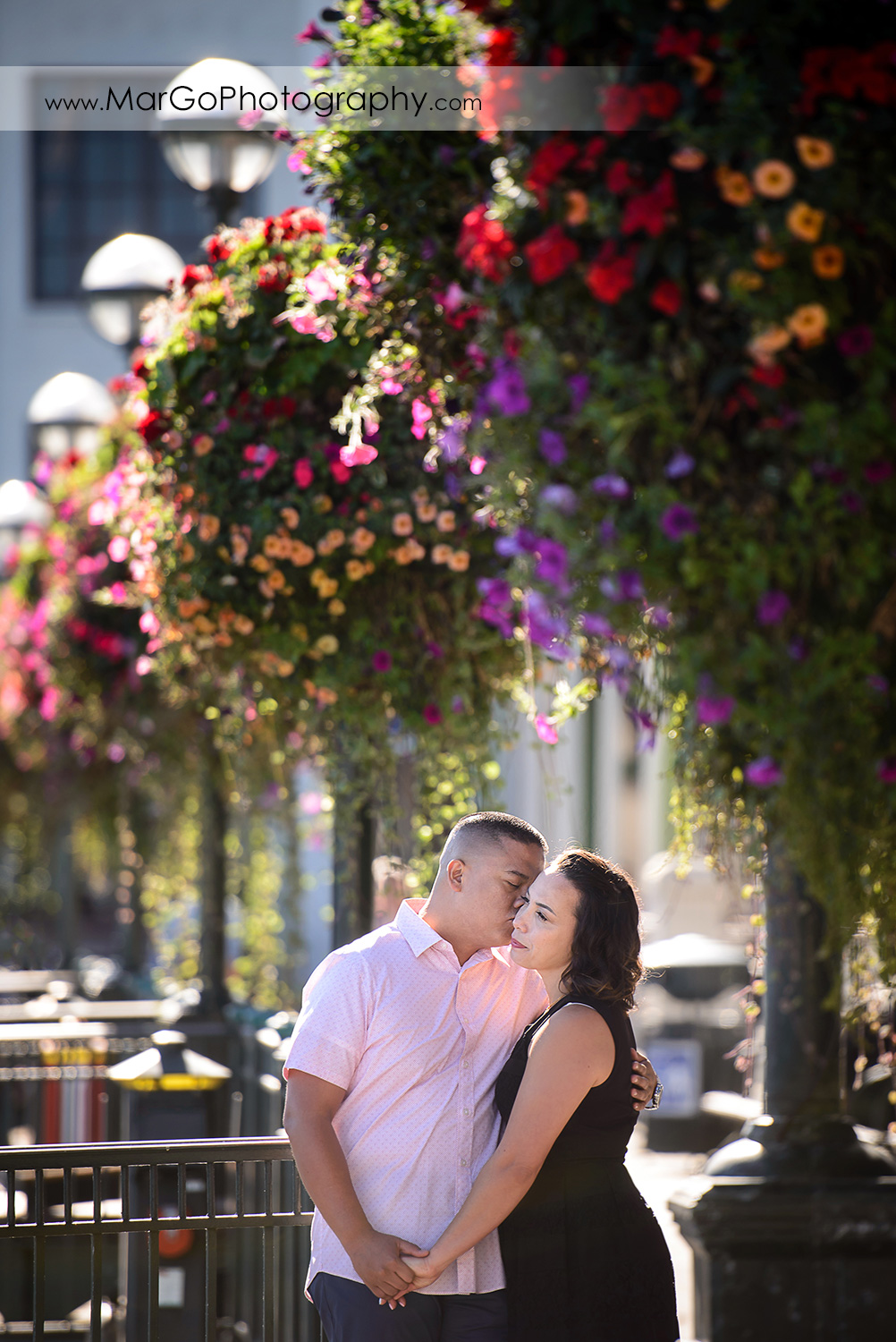 engagement session at Pier 5 in San Francisco - couple together