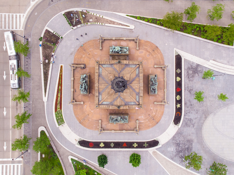 Soldiers' and Sailors' Monument from above