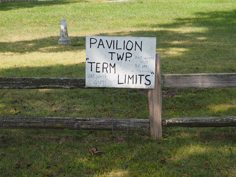 A Pavilion Township Yard Sign