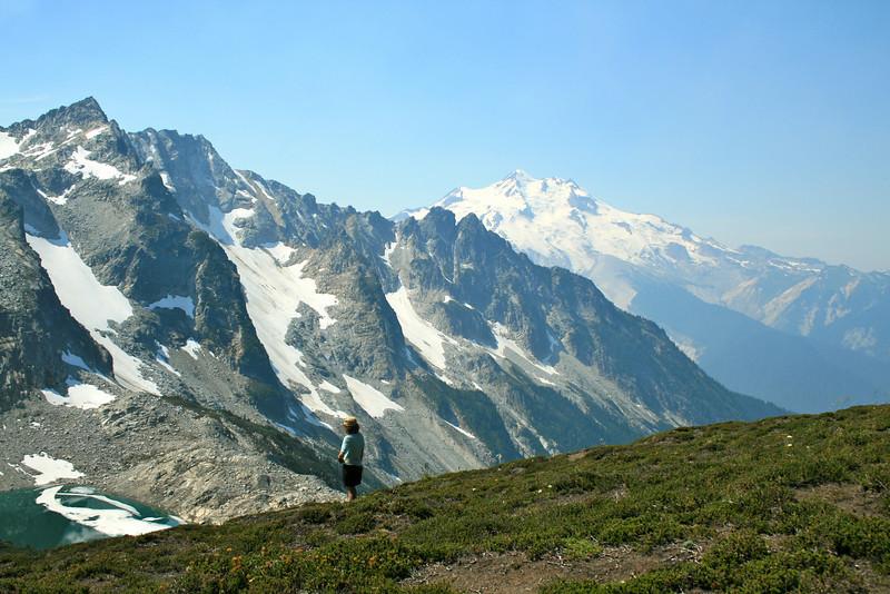 Me and Glacier Peak, Triad Lake.