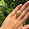 3.00ct Yellow Orange Sapphire Solitaire 44