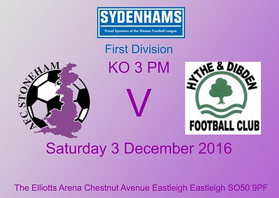 AFC Stoneham (2) Hythe & Dibden (0) 3.12.2016