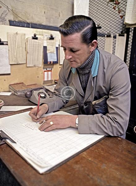 Peter's paperwork.