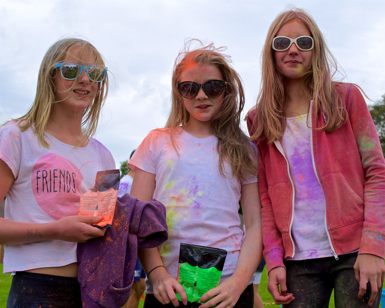 Three girls, four colours
