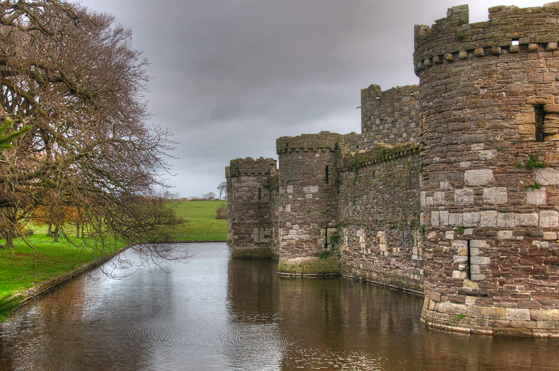 Caerphilly Castle in South Wales, England