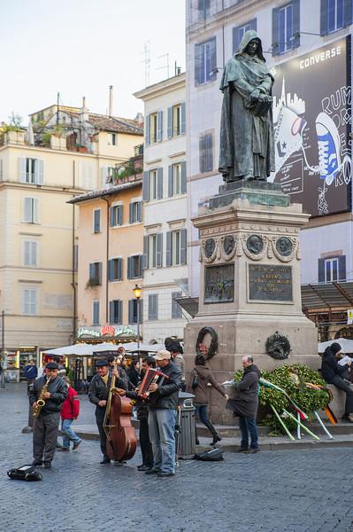 Action at Piazza Campo de' Fiori, Rome, Italy, February 2009