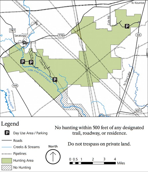 Big Thicket National Preserve (Hunting Areas - Lance Rosier Unit)