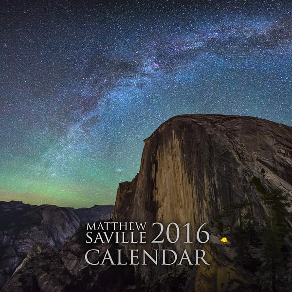 """Matthew Saville 2016 Calendar 12x12"""" Cover"""