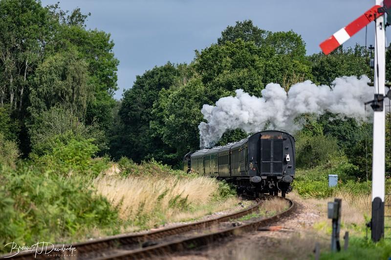 British Railways Standard Class 4MT 2-6-4 Tank Locomotive No 80151 is on its way