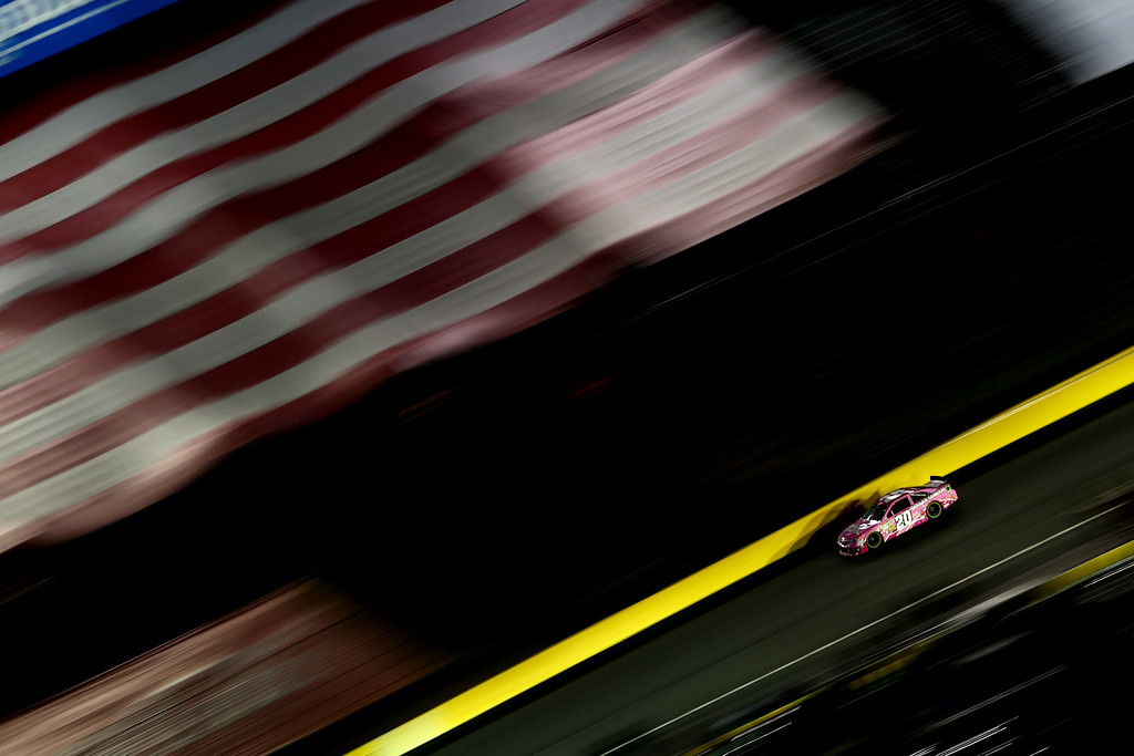 . CONCORD, NC - OCTOBER 12:  Matt Kenseth, driver of the #20 Dollar General Toyota, races the NASCAR Sprint Cup Series Bank of America 500 at Charlotte Motor Speedway on October 12, 2013 in Concord, North Carolina.  (Photo by Streeter Lecka/Getty Images)