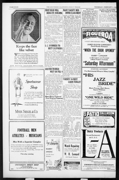 Daily Trojan, Vol. 17, No. 81, February 04, 1926