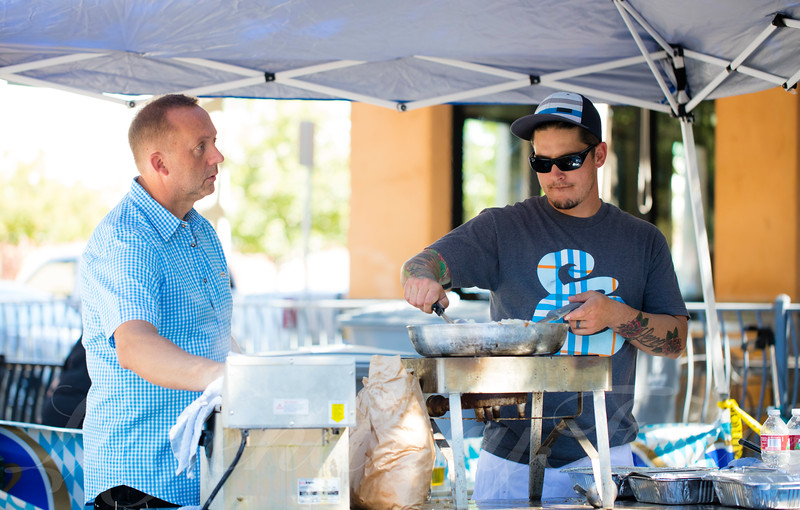 Gary and Holger Cooking at Oktoberfest 2015