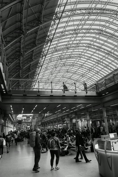 St Pancras Station in Central London