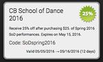 CBSoD Lights, Camera, Dance! 5/5/16