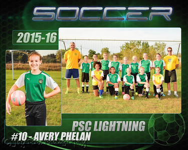 October 1, 2015 - PSC Lightning 05 U11 Girls White Team Portraits