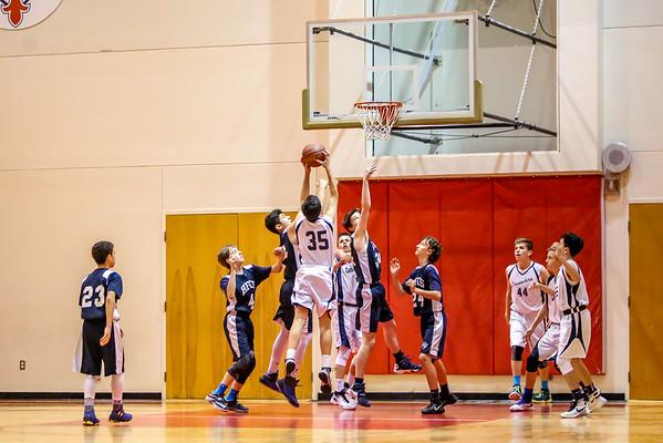 Mar 8 - Basketball - 8th Gr Gold vs Holy Family