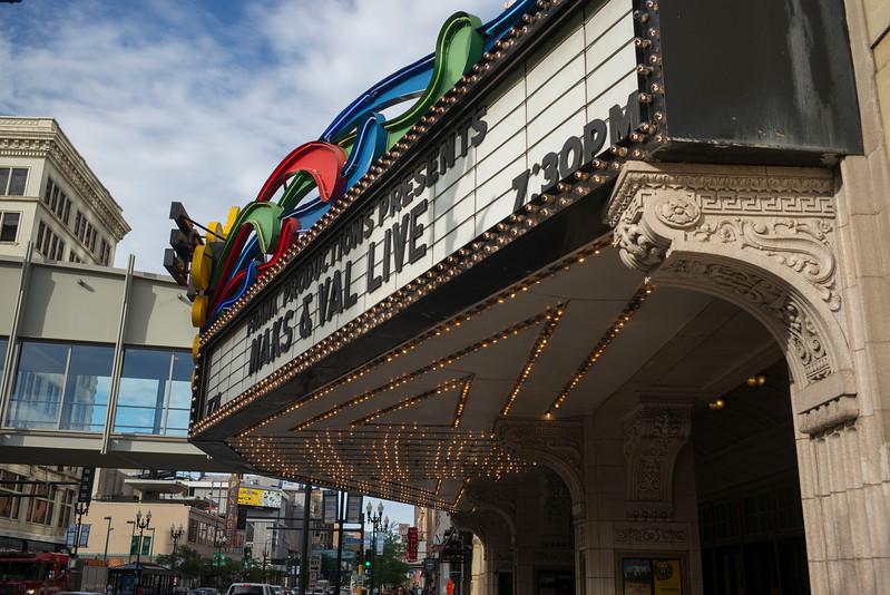 Facade of a theatre building, Minneapolis, Hennepin County, Minnesota, USA