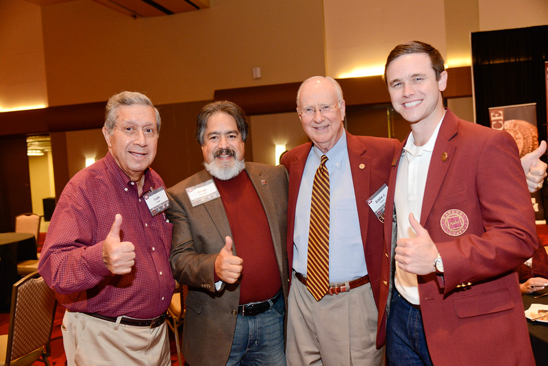 Lupe Fraga, Jorge Vanegas, Ed Davis '67, Zach Rosinsky '15