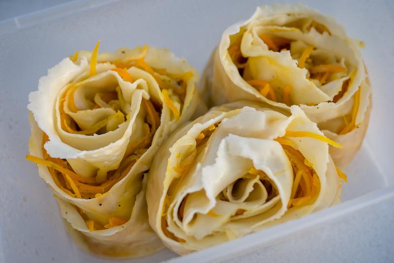 Vegetarian oromo, a rolled dumpling-like treat