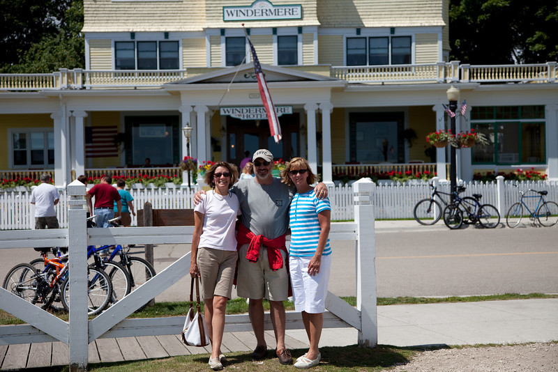 Our team standing in front of our Hotel on Mackinac Island