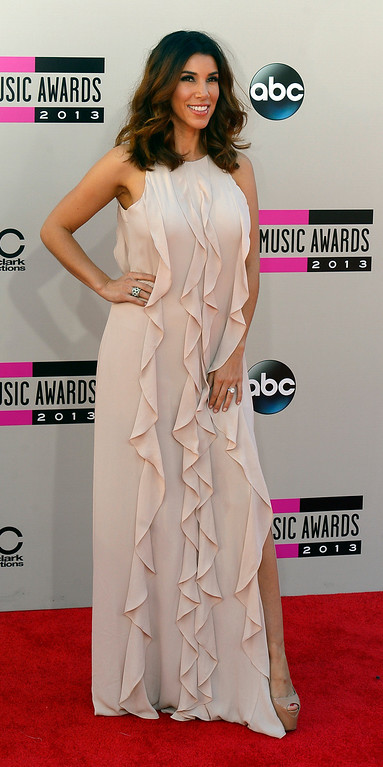 . Adrianna Costa arrives to the American Music Awards  at the Nokia Theatre in Los Angeles, California on Sunday November 24, 2013 (Photo by Andy Holzman / Los Angeles Daily News)