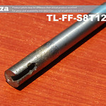 SKU: TL-FF-S8T12-60S, 8mm Flat End Mill Granite Stone Router Bit with 12mm Fine Grit and Cooling Slot, Full Length ⩾60mm